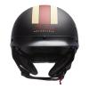Half Helmet with Retro Racing Stripe, Black - Image 2 de 4