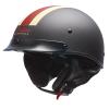 Half Helmet with Retro Racing Stripe, Black - Image 1 de 4