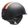Half Helmet with Retro Racing Stripe, Black - Image 3 de 4