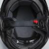 Half Helmet with Retro Racing Stripe, Black - Image 4 de 4