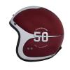 Open Face Munro 50th Helmet, Red/Silver - Image 4 de 13