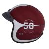 Open Face Munro 50th Helmet, Red/Silver - Image 7 de 13