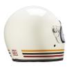 Full Face Retro Helmet with Stripes, White - Image 3 of 8