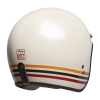 Open Face Retro Helmet with Stripes, White - Image 4 of 7