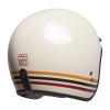 Open Face Retro Helmet with Stripes, White - Image 4 de 7