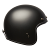 Open Face Retro Helmet, Matte Black - Image 3 of 6