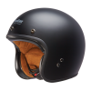 Open Face Retro Helmet, Matte Black - Image 2 of 6