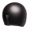 Open Face Retro Helmet, Matte Black - Image 4 of 6