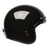 Open Face Retro Helmet, Glossy Black - Image 7 of 7