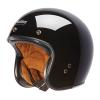 Open Face Retro Helmet, Glossy Black - Image 2 of 7