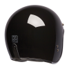 Open Face Retro Helmet, Glossy Black - Image 3 of 7