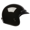 Open Face Retro Helmet, Glossy Black - Image 5 of 7