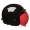 Open Face Retro Helmet, Glossy Black - Image 6 of 7