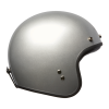 Open Face Retro Helmet, Silver - Image 3 of 7