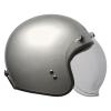Open Face Retro Helmet, Silver - Image 7 of 7