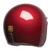 Open Face Retro Helmet, Red - Image 4 of 7