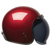 Open Face Retro Helmet, Red - Image 7 of 7