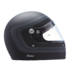 Full Face Retro Helmet with Matte Stripes, Black - Image 2 de 9