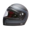 Full Face Retro Helmet with Matte Stripes, Black - Image 1 de 9