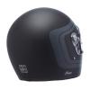 Full Face Retro Helmet with Matte Stripes, Black - Image 3 de 9