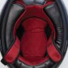 Full Face Retro Helmet with Matte Stripes, Black - Image 4 de 9