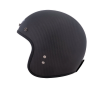 Open Face Carbon Fiber Retro Helmet with Stripes, Black - Image 4 of 9