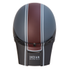 Adventure Helmet with Matte Stripe, Gray/Red  - Image 6 of 15