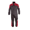 Two-Piece Waterproof and Breathable Rainsuit, Black/Red - Image 2 of 7