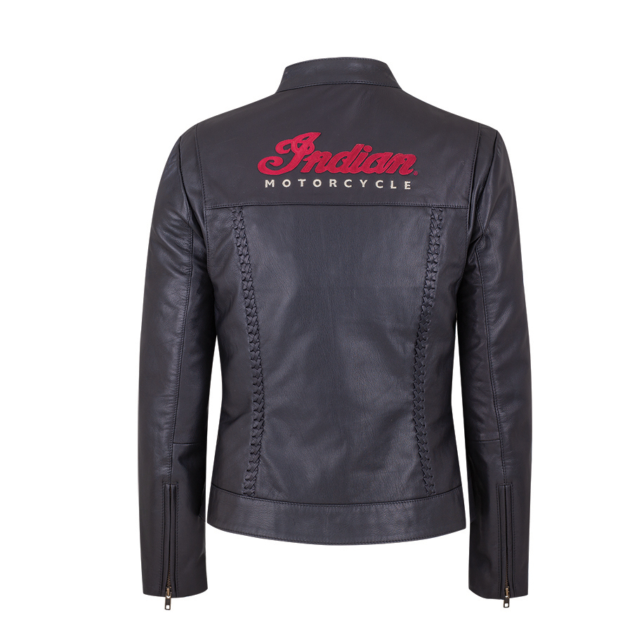 miniature 17 - Indian Motorcycle Women's Leather Charlotte Casual Jacket, Black