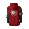 Women's Pullover Hoodie Sweatshirt with Contrast Sleeve, Gray/Red - Image 2 of 2