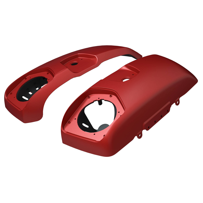 PowerBand Audio Saddlebag Speaker Lids in Ruby Smoke, Pair