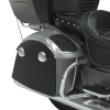 PowerBand Audio Classic Saddlebag Speaker Lids - Titanium Smoke over Thunder Black with Silver Pinstripes - Image 3 of 4