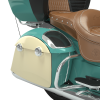 PowerBand Audio Classic Saddlebag Speaker Lids - Coastal Green over Ivory Cream with Black Pinstripes - Image 3 of 4