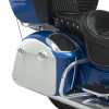 PowerBand Audio Classic Saddlebag Speaker Lids - Radar Blue over Pearl White with Silver Pinstripes - Image 3 of 4