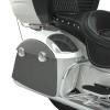 PowerBand Audio Classic Saddlebag Speaker Lids - Pearl White over Titanium Metallic with Black Pinstripes - Image 3 of 4