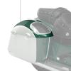 PowerBand Audio Classic Saddlebag Speaker Lids - Metallic Jade over Pearl White - Image 4 of 4