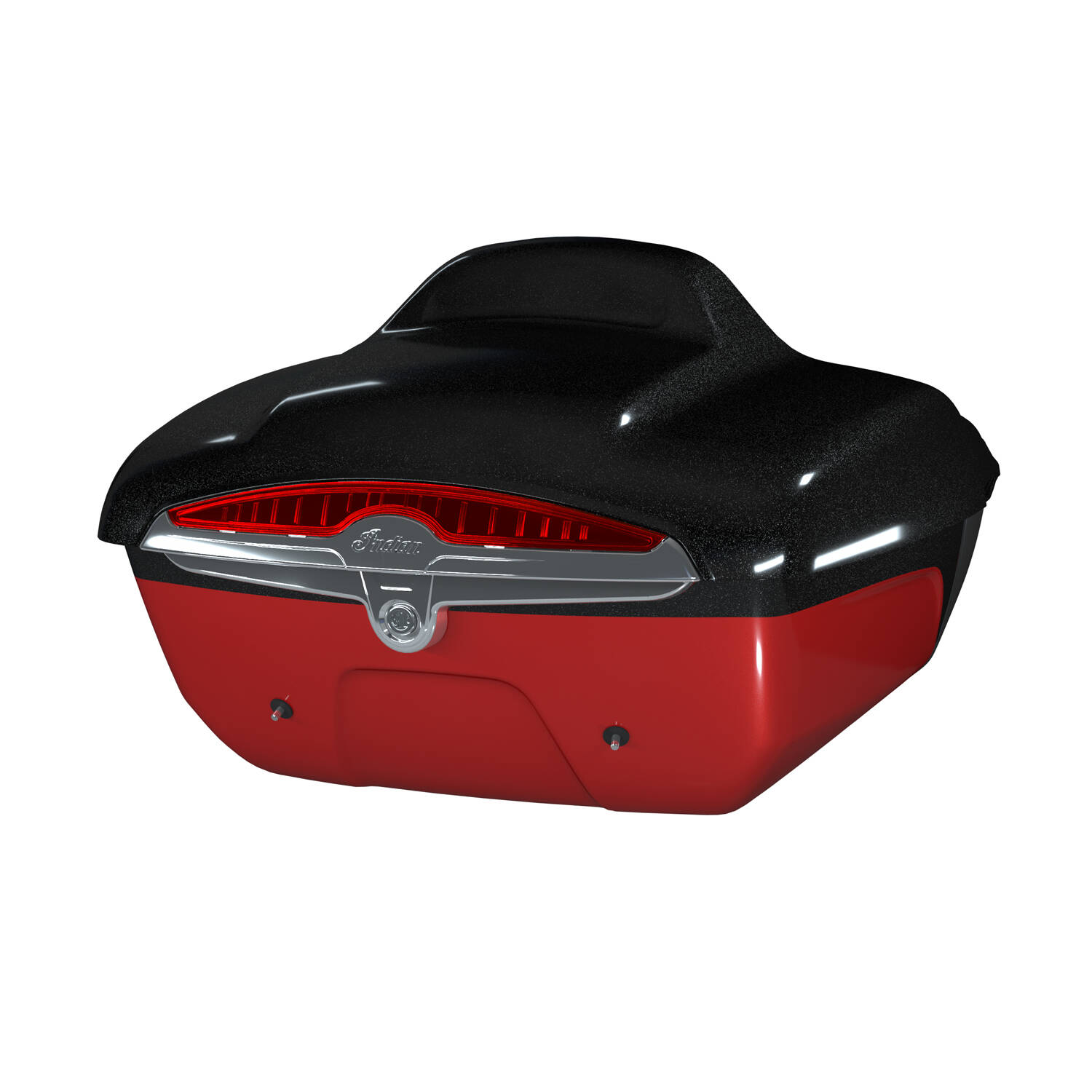 Quick Release Trunk - Thunder Black Vivid Crystal Over Wildfire Red Candy