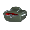 Quick-Release Lockable Trunk with Taillight, Sage Brush Smoke - Image 1 of 3