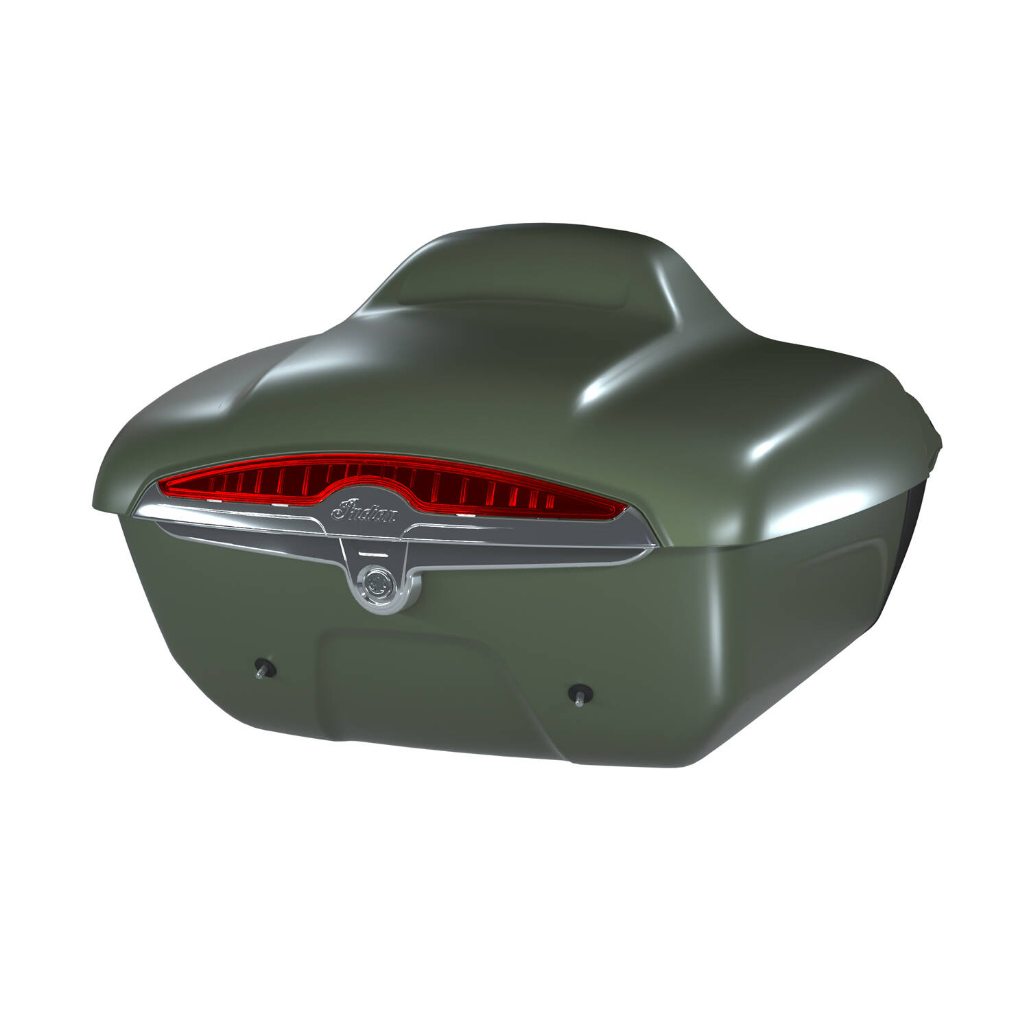 Quick-Release Lockable Trunk with Taillight, Sage Brush Smoke