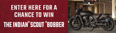 Enter to Win Indian Scout Bobber | Indian Motorcycle