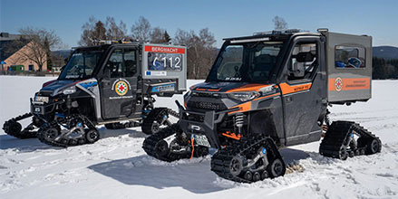 The Polaris Ranger is the perfect partner for mountain rescue teams in Germany