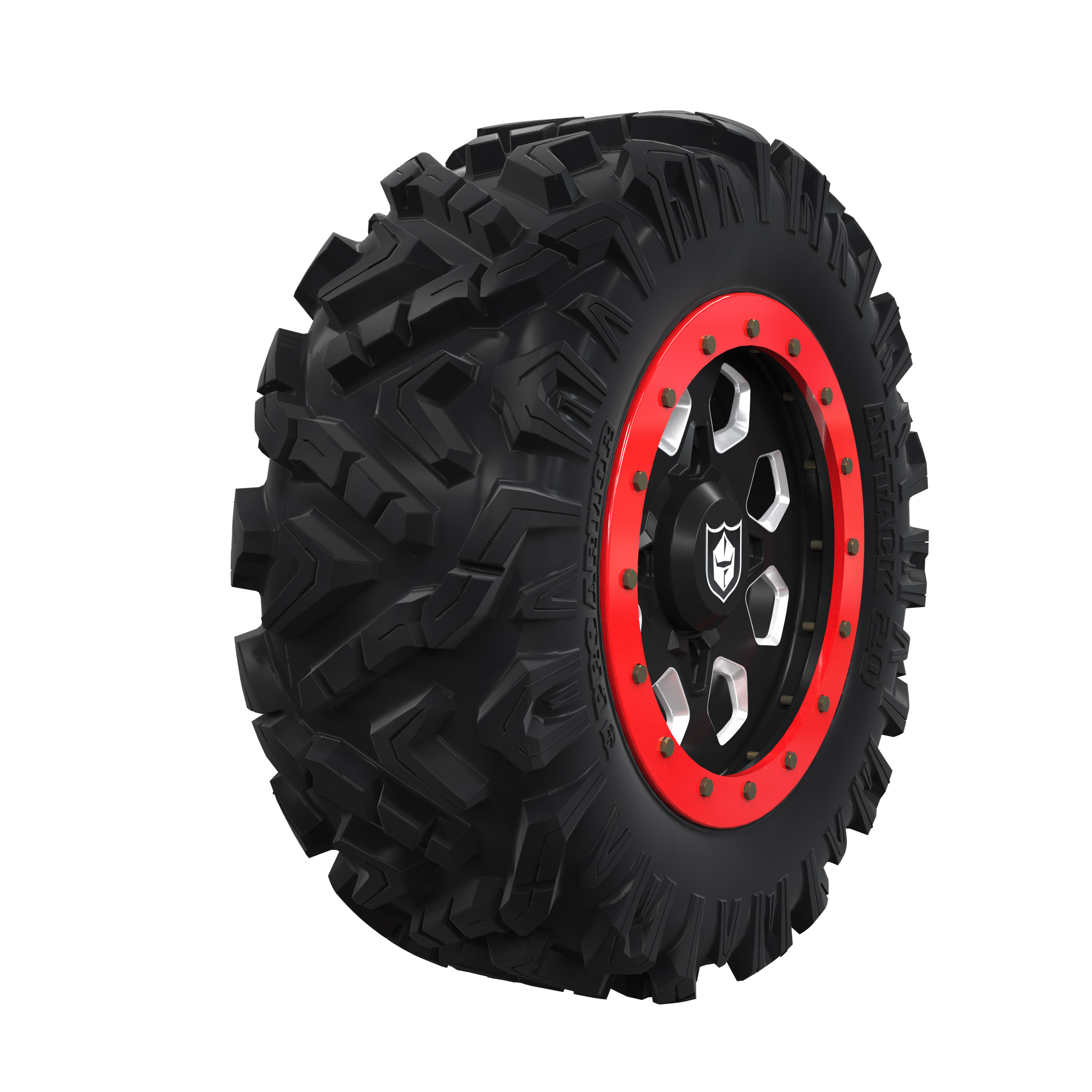 "Pro Armor® Wheel & Tires Set - Attack 2.0, HEXLR - Accent, 28""R15"