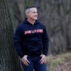 Men's Full-Zip Core Hoodie Sweatshirt with Polaris® Logo, Navy - Image 2 of 3