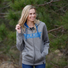 Women's Full-Zip Core Hoodie Sweatshirt with Polaris® Logo, Gray - Image 2 of 4