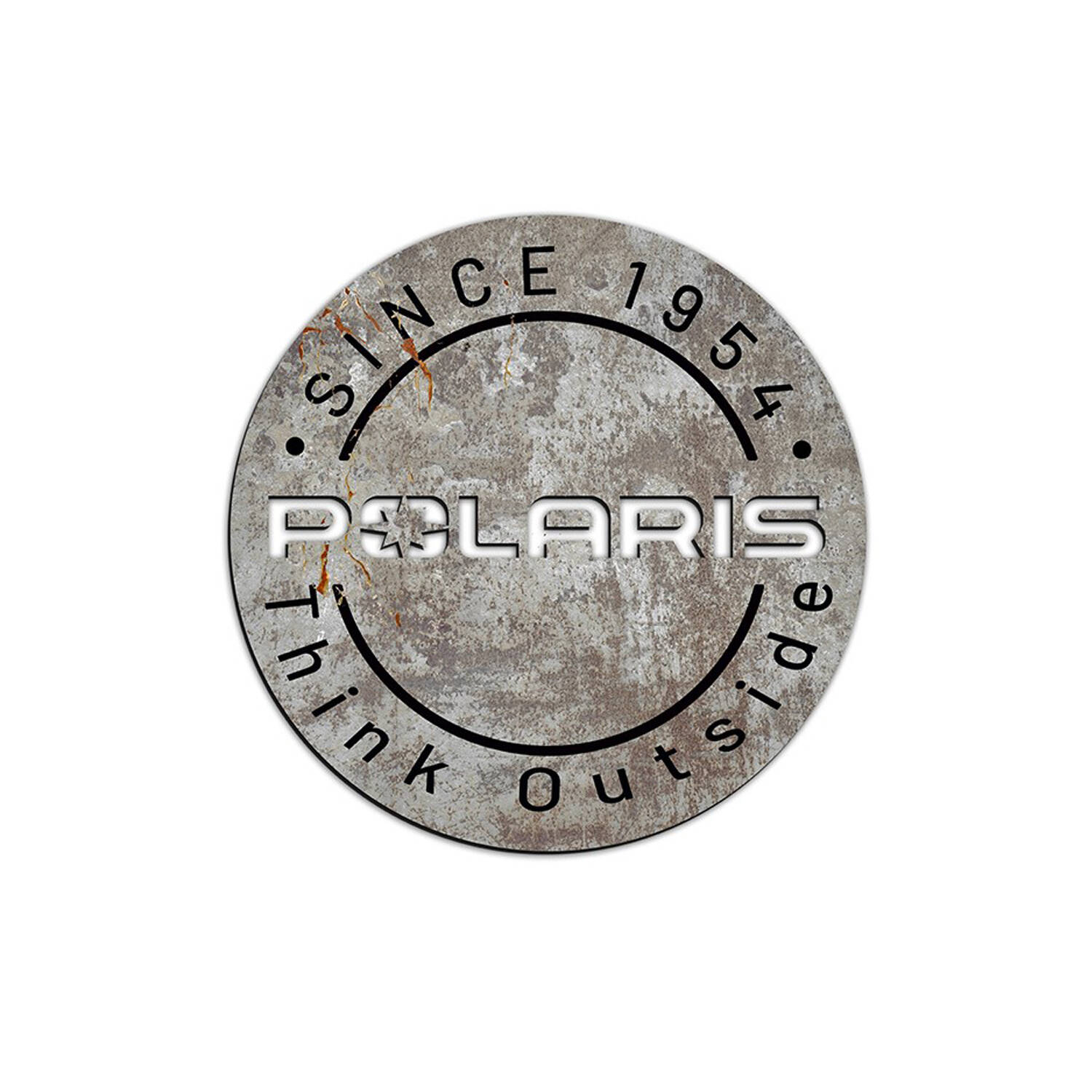 Polaris Round Aluminum Sign 22""