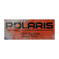 Polaris Steel Sign 14 x 36