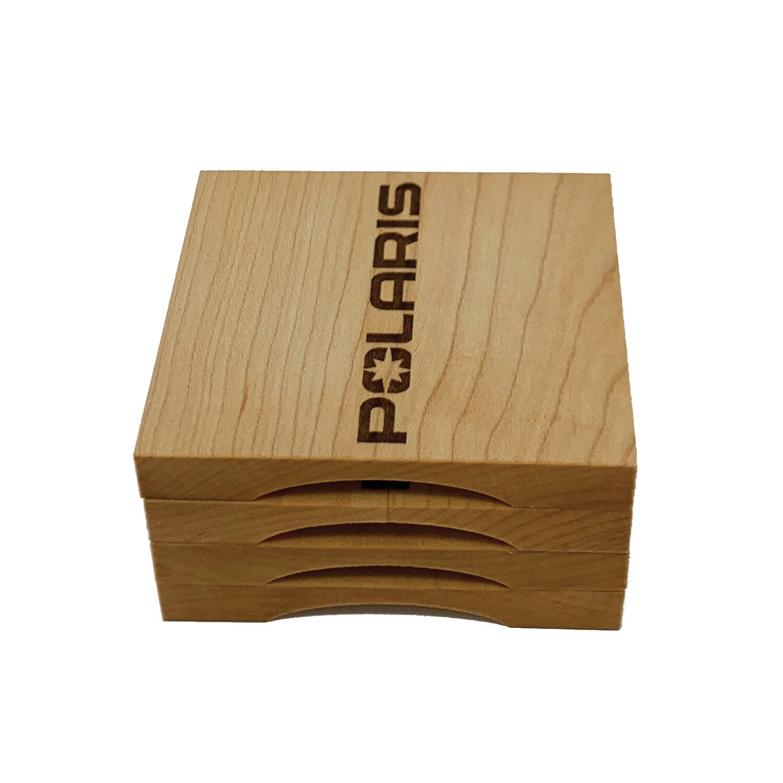 Polaris Wooden Coasters