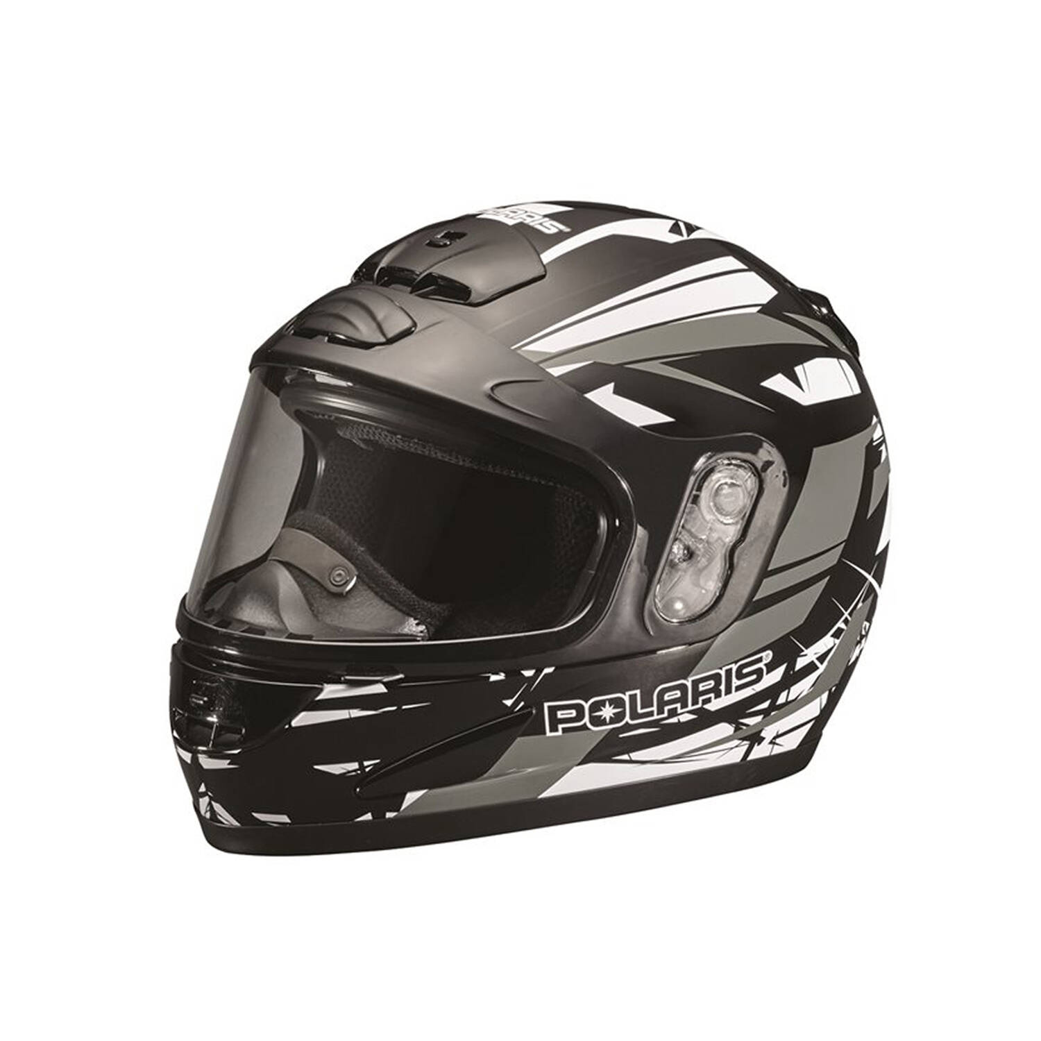 Modular Youth Helmet with Built-In Breath Deflector, Gray