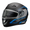 Blaze Adult Full-Face Helmet with Anti-Fog Flip Shield, Blue Matte - Image 2 de 7