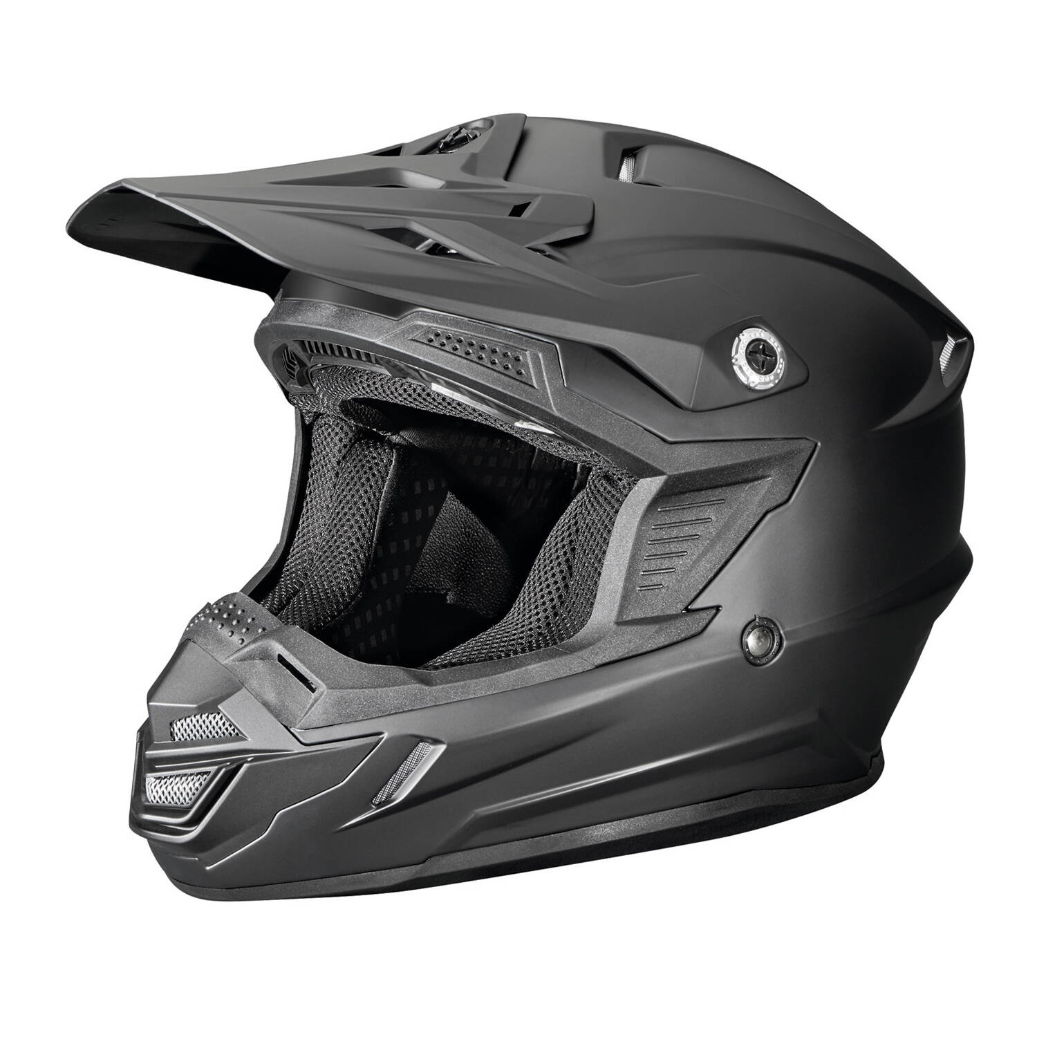 Tenacity Adult Moto Helmet with Removable Liner, Black